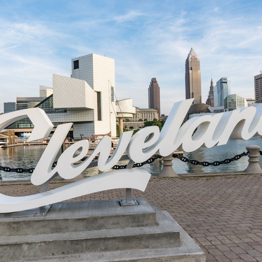Canva - Cleveland Sign and Skyline from