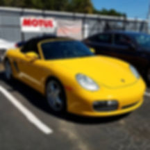 2005 Porsche Boxster S 987 Speed Yellow Motul Oil Change Service 8100 Xcess 5W40 German Autohaus of Chattanooga Tennessee Service Maintenance Repair Performance Parts
