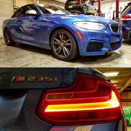 A 2015 BMW M235i in for an oil service w