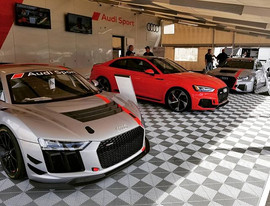 Slick rides on display at the Audi Sport