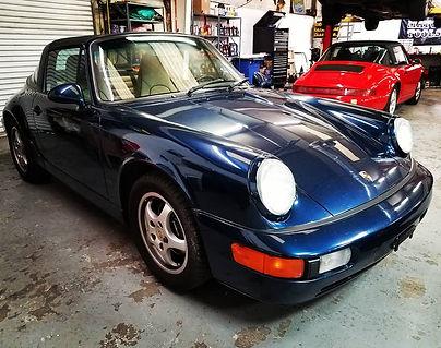 1992 Porsche 911 964 C2 Targa 15K Service Maintenance Repair Parts Performance Blue German Autohaus Chattanooga Tennessee