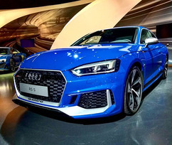 Nogaro Blue 2019 Audi RS5 Coupe at the A
