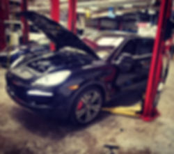 2011 Porsche 958 Cayenne Turbo PPI Prepurchase Inspection German Autohaus Chattanooga Tennessee European Repair Parts Performance Maintenance Black