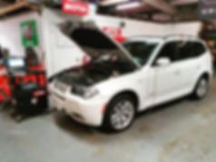 2009 BMW X3 AGM Battery Registation Retrofit German Autohaus Chatanoog Tennessee Service Mainenace White