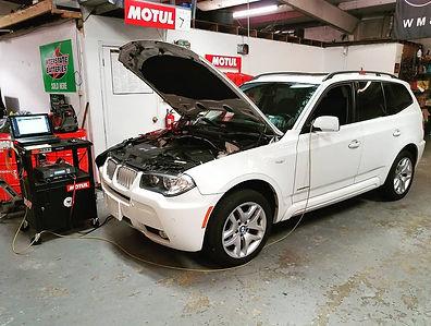 2009 BMW X3 AGM Battery Registation Retrofit German Autohaus Chatanoog Tennessee Service Mainenace White