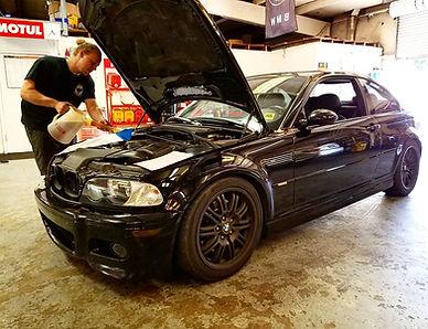 2003 BMW E46 M3 Oil Change Motul 8100 Xcess 5W40 Mahle Filter German Autohaus Chattanooga Tennessee European Repair Maintenance Service