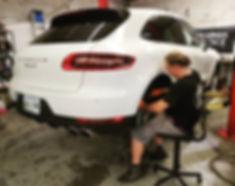2015 Porsche Macan S 95B Bosch Spark Plug Motul 8100 Xcess 5W40 Service Maintenance Parts Repair Performance German Autohaus Chattanooga Tennessee White