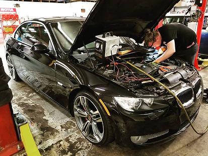 2008 BMW E90 335i Smoke Diagnostics Troubleshooting Charge Pipe German Autohaus of Chattanooga Tennessee N54 N54B30 Turbo Phoenix Racing