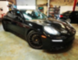 2014 Porsche 970 Panamera Black Brake Service Maintenance Service Repair Parts Performance German Autohaus of Chattanooga Tennessee European