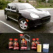 2004 Porsche Cayenne Turbo German Autohaus Chattanooga Tennessee Oil Change Motul 8100 Xcess x-cess 5W40 Repair Maintenance Car
