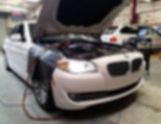 2011 BMW 528i German Autohaus Chattanooga Tennessee SRS Calibration White Service Maintenance Diagnostics White