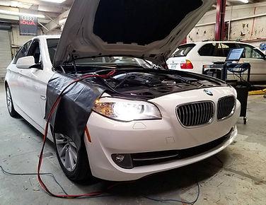 2011 BMW 528i German Autohaus Chattanooga Tennessee SRS Calibration White Service Maintenance Diagnostics White