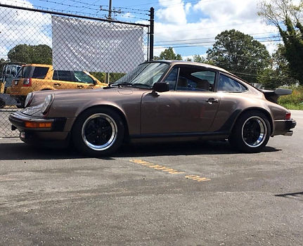 1983 Porsche 911 SC Visiting German Autohaus of Chattanooga Tennessee Service Maintenance Repair Performance Parts Super Carrers Brown