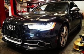 2014 Audi S6 in for an oil change with M