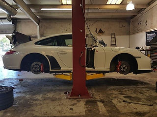 Porsche 911 997 at German Autohaus of Chattanooga Brembo brakes repair C4S European Racecar Performance
