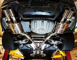 iPE exhaust install on a 2009 BMW M6. Ra
