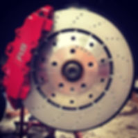 German Autohaus Chattanooga Audi RS5 RS Brembo Red Caliper Rotor Disc Service