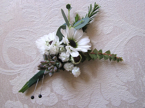 Boutonniere For Wedding, Elopement, Prom or Other Special Event