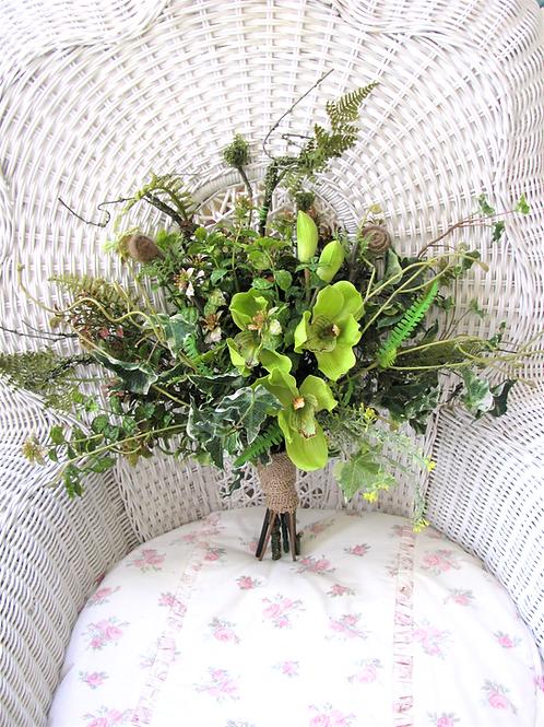 Woodland Rustic Boho Hand Tied Silk Wedding Bouquet