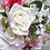Thumbnail: Pink Hydrangea and White Rose Silk Wedding Bouquet