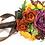 Thumbnail: Autumn Colors Burgundy Orange Green Silk Wedding Bouquet
