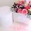 Thumbnail: Large Luxury Box Mixed Flower Bouquet Hatbox Arrangement Customizable Label