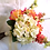 Thumbnail: Coral Lilac Yellow and Pink Rose Silk Wedding Bouquet