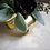 Thumbnail: Silk Succulent Wrist Corsage on Gold Tone Cuff Bracelet in Corsage Box