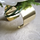 Thumbnail: Silk Phalaenopsis Orchid Wrist Corsage on Gold Tone Cuff Bracelet in Corsage Box