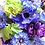 Thumbnail: Blue Hydrangea Purple Ranunculus Silk Wedding Bouquet