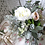 Thumbnail: English Garden Rose Lilac Ranunculus Hand Tied Silk Wedding Bouquet
