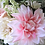 Thumbnail: Garden Rose and Dahlia Ivory Pink Hand Tied Silk Wedding Bouquet