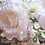Thumbnail: White Rose and Ranunculus Cascading Silk Wedding Bouquet