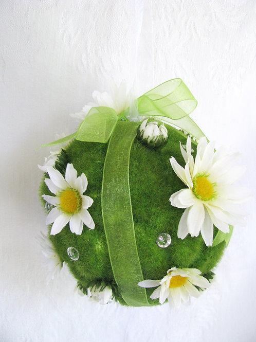 Daisy Silk Moss Flower Girl Pomander