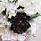 Thumbnail: Cream and Black Anemone Hydrangea Succulent Silk Wedding Bouquet