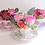 Thumbnail: Luxury Box Collectable Teacup Flower Hatbox Design Customizable Label