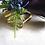Thumbnail: Silk Purple Calla Lily Wrist Corsage on Gold Tone Cuff  Bracelet in Corsage Box
