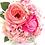 Thumbnail: Pink Hydrangea and Garden Rose Silk Wedding Bouquet