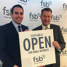 With Maurice Golden MSP at the FSB Conference