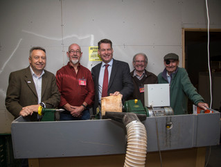 """Murdo visits Carse of Gowrie """"Mens' Shed"""""""