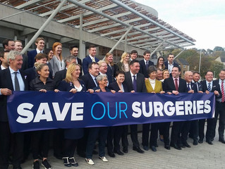 """Murdo, Liz and Miles back """"Save our Surgeries"""" campaign in Mid-Scotland and Fife"""