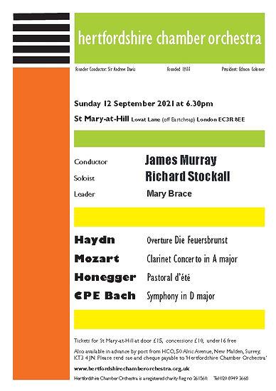 download concert leaflet 12 September
