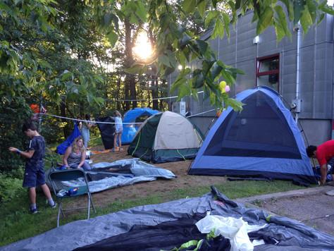 Camping à la Maison des jeunes