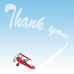Red Balloon thank you cards