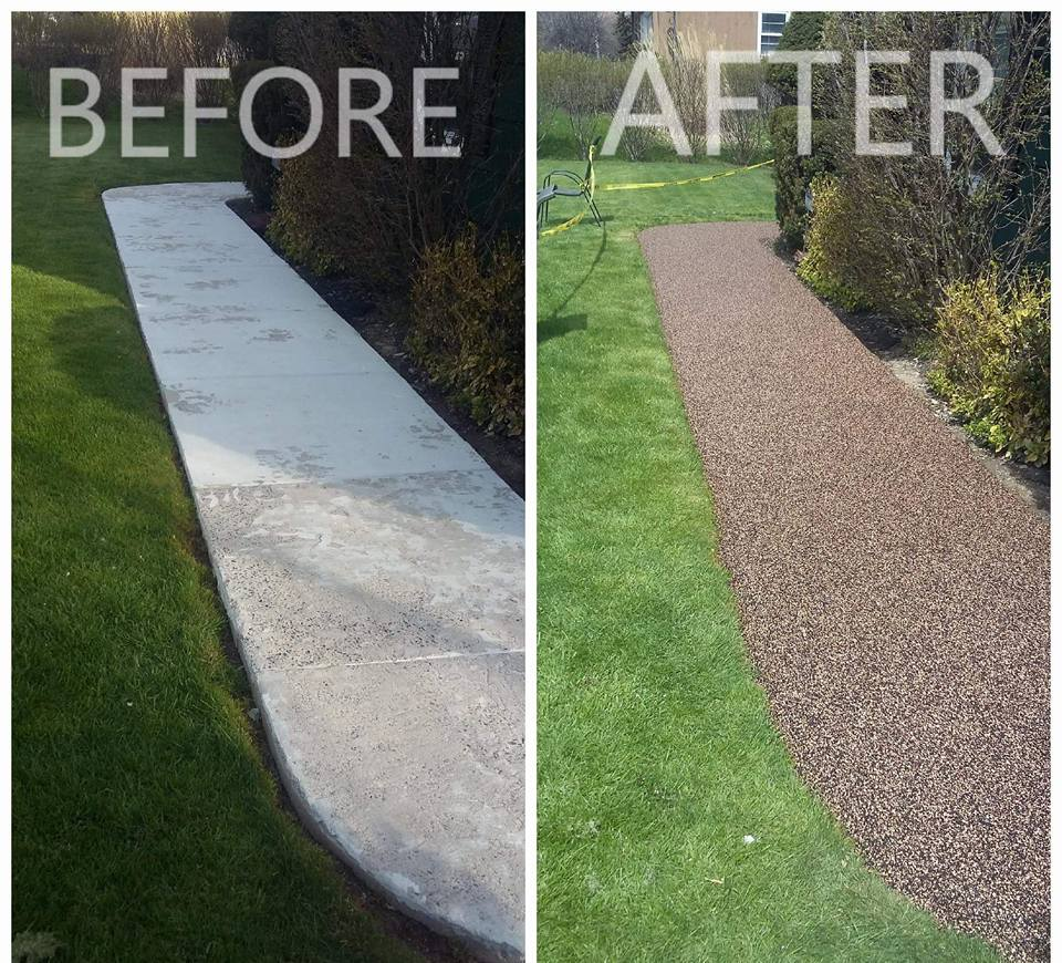 Before/After Walkway