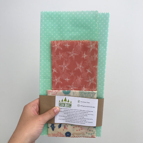 Vegan Wax Wraps (Set of 3)