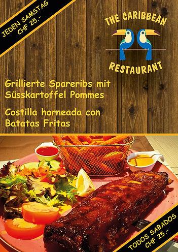 Best Spareribs in Zürich, Costilla horneada