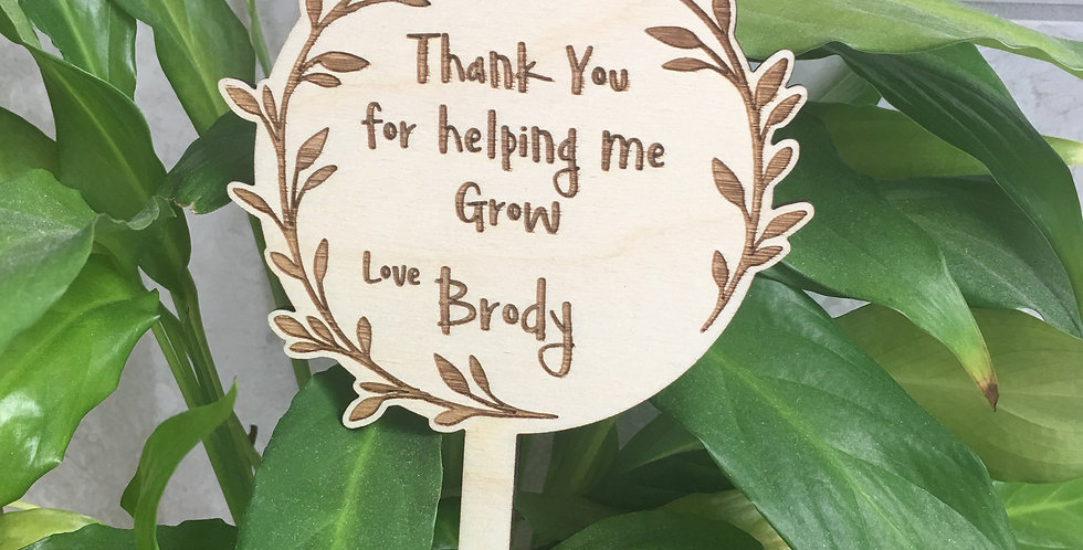 'Thank You For Helping Me Grow' Teacher Gift