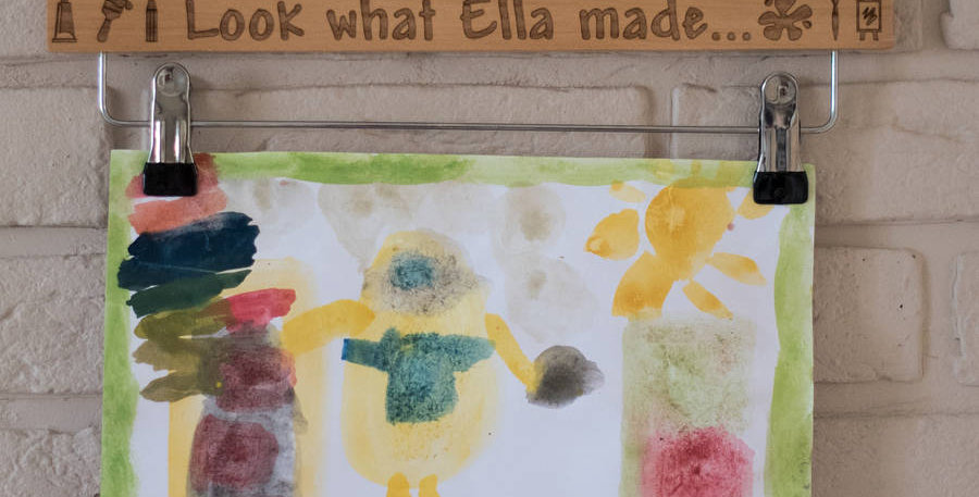 Art Hanger For Displaying Childrens Artwork