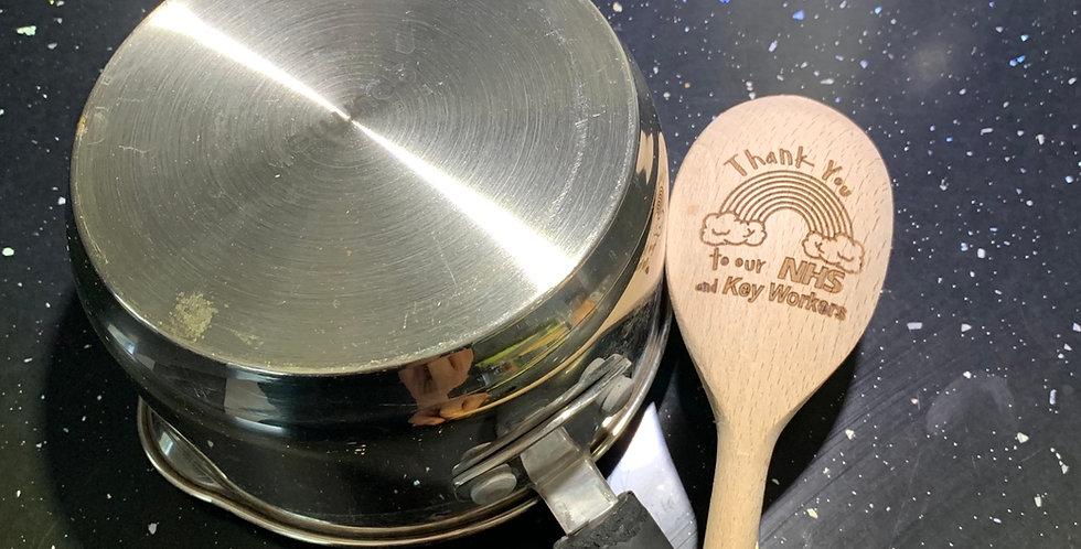 NHS Heroes Wooden Spoon #stayathome Campagin